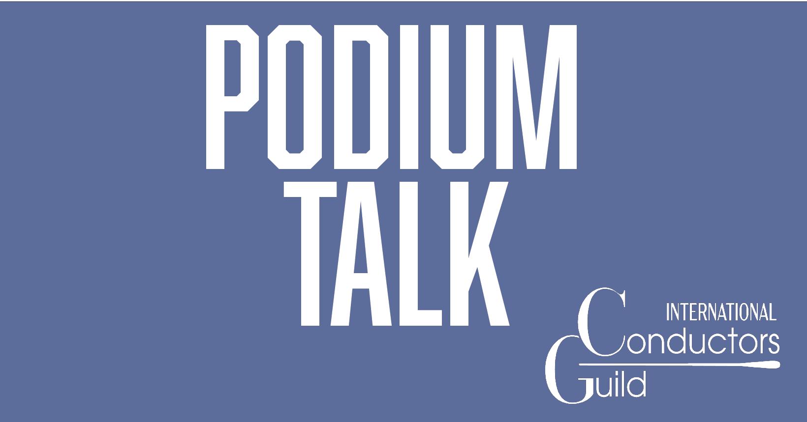 Podium Talk Logo